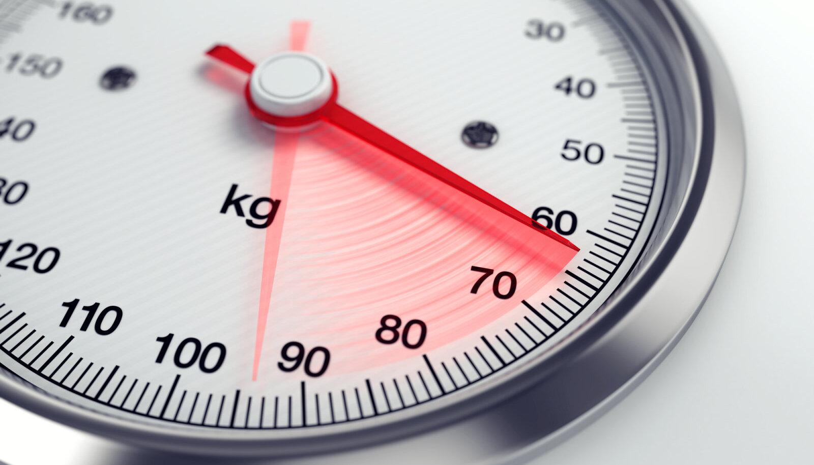 tervislik protsent kehakaalu langusest
